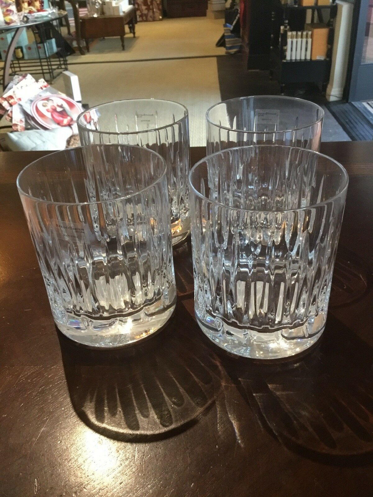 Soho double cristal ancienne verre par Reed & Barton-Lot de 4