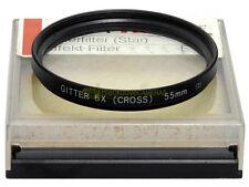 55mm. filtro Gitter 6x Cross. CS filter.