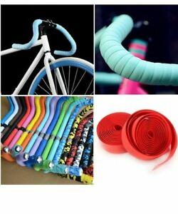 2Pcs Road Bike Handlebar Tape Bicycle Drop Bar Wrap Outdoor Sports Non-slip NEW