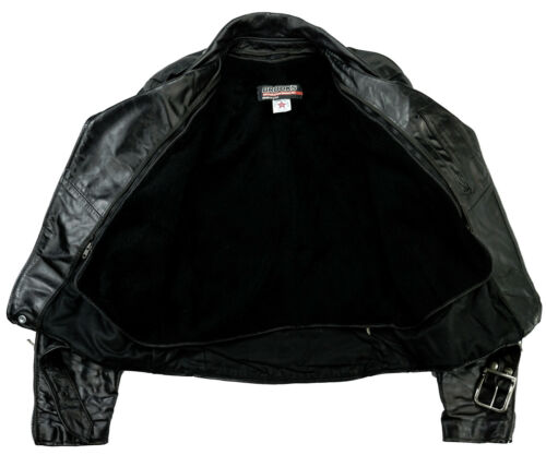 Motorrad Leather Schwarz 50 Brooks Lederjacke M l Biker Perfecto Harley 1wqEIq