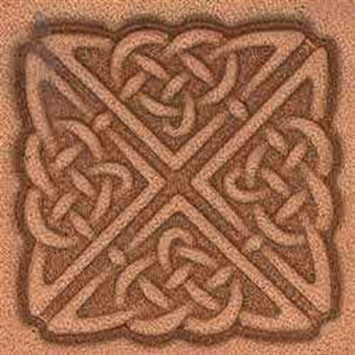 8538 Square Celtic Craftool 3-D Stamp Tandy Leather 8538-00