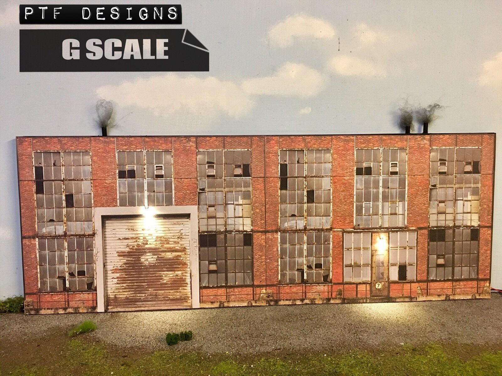 "G Scale Scratch Built "" INDUSTRIAL  1 "" Factory Building Flat LED 1 24 1 32"