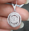 Steal-Deal-1-00-CTW-Genuine-Round-Cluster-Diamond-Halo-Pendant-Charm-14K-Gold thumbnail 2