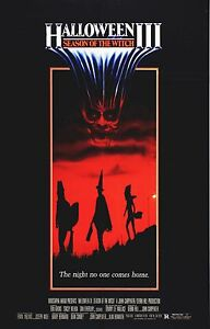 e8098c524 HALLOWEEN III 3 Season of the Witch Movie Poster Horror Silver ...