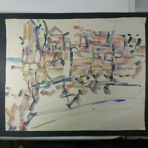 Details About Allen Wolf American Artist 1925 2011 Abstract Watercolor On Paper Painting