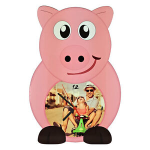 HORLOGE-MURALE-PERSONALISE-IMPRESSION-PERSONNALISE-PHOTO-ANIMAL-COCHON-PORC