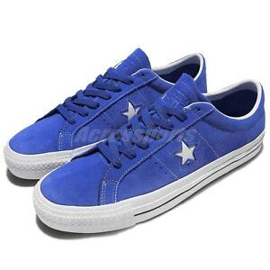 Converse One Star Pro Suede Blue White Men Women Shoes Sneakers ... d02f26a172c