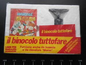 Binocolo-Tuttofare-manuale-Qui-Quo-Qua-VINTAGE-Binoculars-Disney-Mondadori-Rare