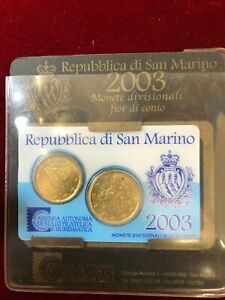 San Marino Mini Set 2003 0,20 0,50 Cents FDC