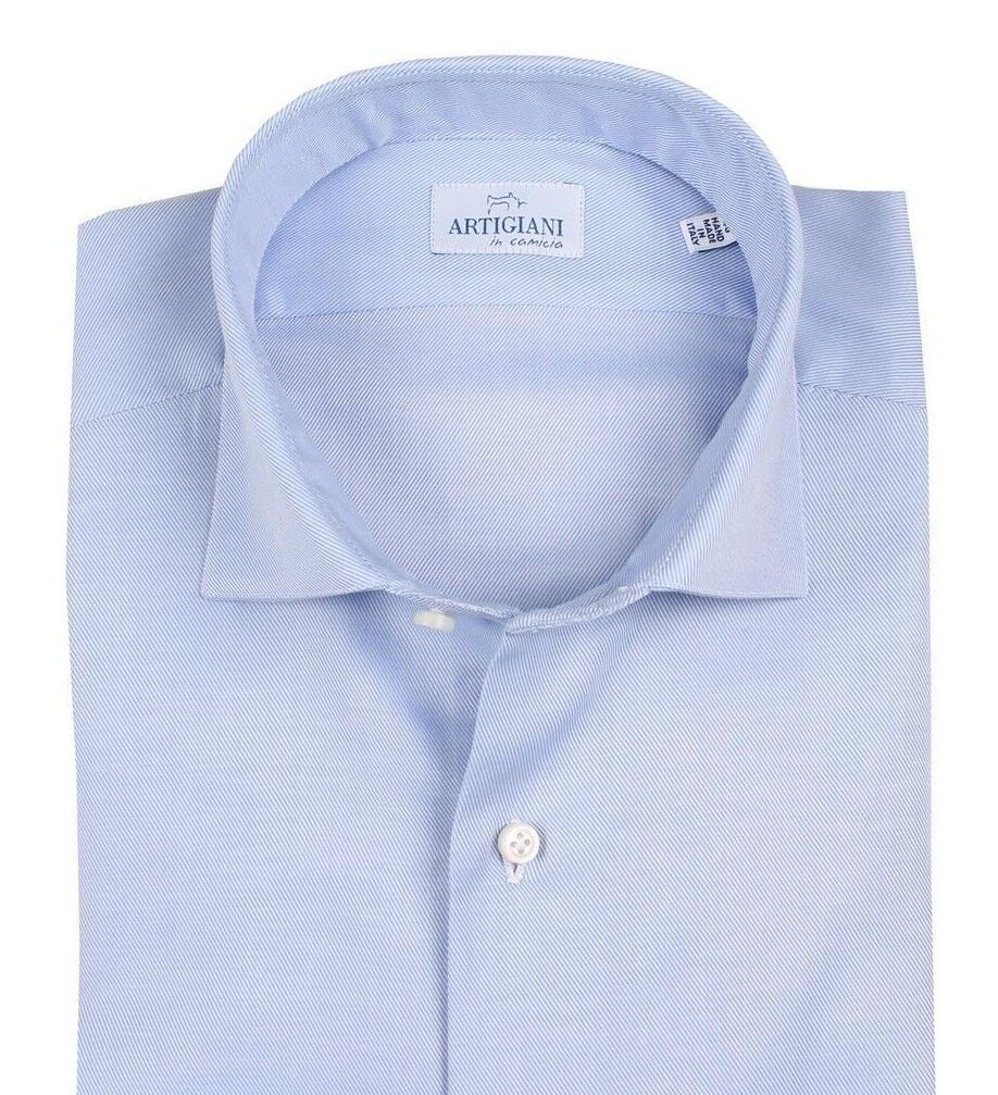 Artigiani Napoli cotton totally handmade shirt 42 (US 16 1 2) shirtmaker Kiton