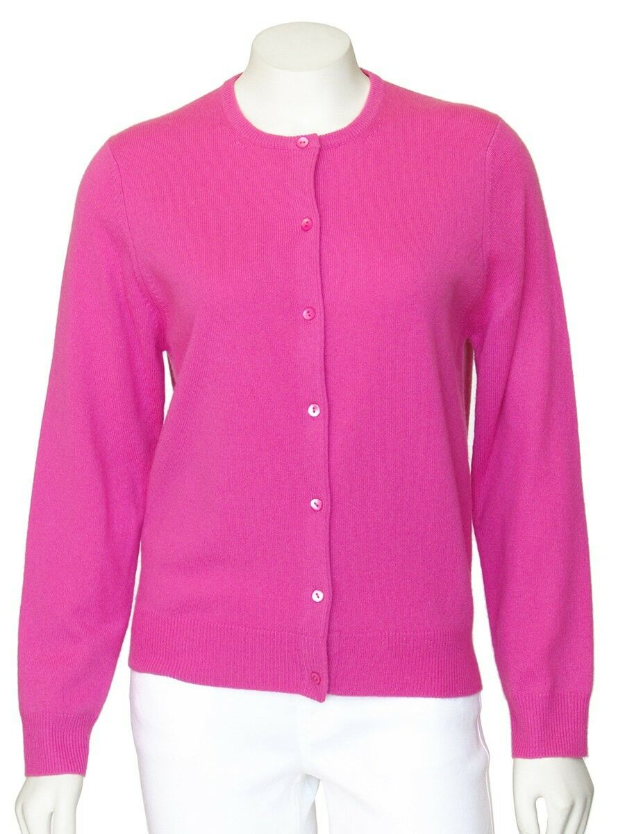 PRICE REDUCED  Neiman Marcus Pink 100% Cashmere Cardigan sz S