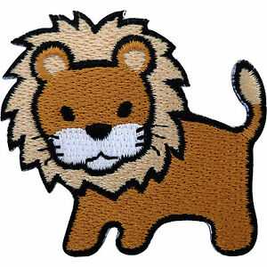 Lion-Patch-Embroidered-Badge-Iron-On-Sew-On-Clothes-T-Shirt-Jacket-Coat-Jeans