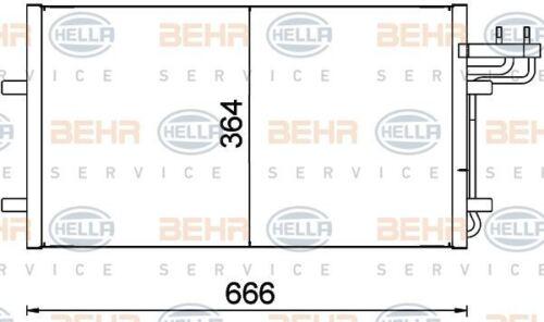 8FC 351 301-734 HELLA condenseur climatisation