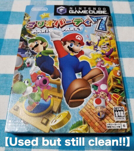 Mario Party 7 Nintendo Gamecube Japan Complete With Cartridge Case And Manual For Sale Online