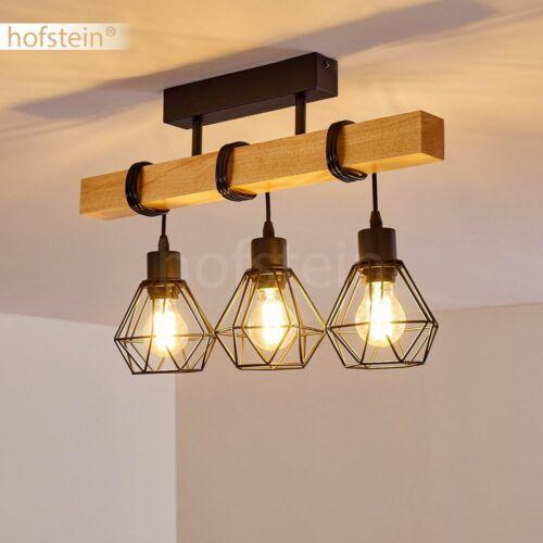 Decken Lampen Holz//schwarz Flur Leuchten Vintage Wohn Schlaf Zimmer Beleuchtung