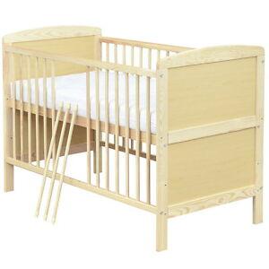 babybett kinderbett gitterbett juniorbett 2in1 140x70 matratze 9cm komfort neu ebay. Black Bedroom Furniture Sets. Home Design Ideas