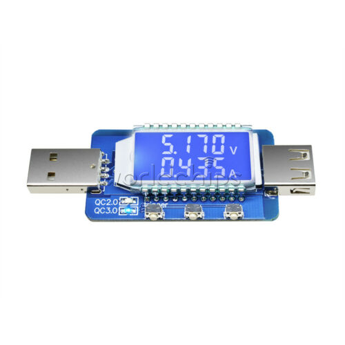 QC 2.0 3.0 LCD Display USB Detector USB Electronic Load Current Voltage Tester