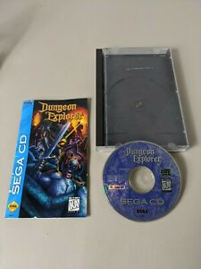 SEGA-CD-DUNGEON-EXPLORER-VIDEO-GAME-DISC-AND-MANUAL-REG-CARD-NEAR-COMPLETE