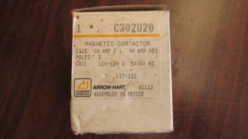 Arrow Hart Contactor C302U20 120VAC 30 FLA