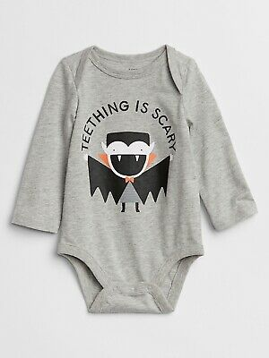 Baby Gap NWT Navy Blue TEETHING BITES SHARK JELLY FISH SS BODYSUIT TOP 0 3 Month