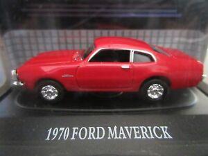 1-87-HO-Scale-1970-Ford-Maverick-RED-American-Classics-1-87-MotorMax-RARE