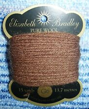 GENUINE ELIZABETH BRADLEY NEEDLEWORK 1 X WOOLCARD (15 YARDS/13.7M EACH)  G6