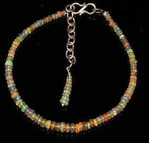 Fine Jewelry Jewelry & Watches 100% Beautiful Natural Ethopian Fire Opal Gemstone Beads Bracelet