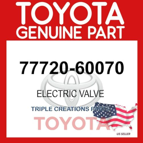 7772060070 GENUINE Toyota ELECTRIC VALVE 77720-60070 OEM