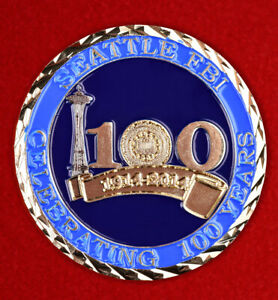 Challenge coin 100 years of the FBI SEATTLE WASHINGTON STATE