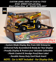 Custom Display Case: Tyco Racin' Outlaw Sprint Car W Wing 7128 (black Yellow)