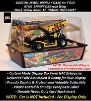 Custom Display Case: Tyco Racin' Outlaw Sprint Car W Wing 7128 (black Yellow)