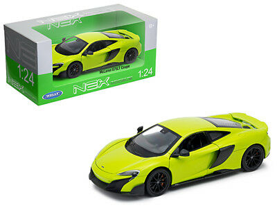 Toys & Hobbies Diecast & Toy Vehicles 1/24 Welly Mclaren 675lt Coupe With Black Wheels Diecast Model Car Green 24089
