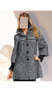 Cappotto di 0811271146 46 marca Winter bianco nero Giacca 44 Parka Gr lunga q5t1wvpP