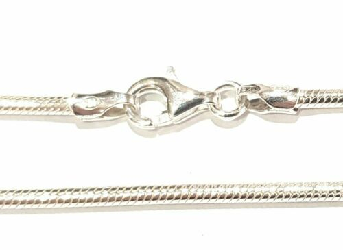 2mm VAROUS LENGTHS AVAILABLE STERLING SILVER CHUNKY ROUNDED SNAKE NECKLACE