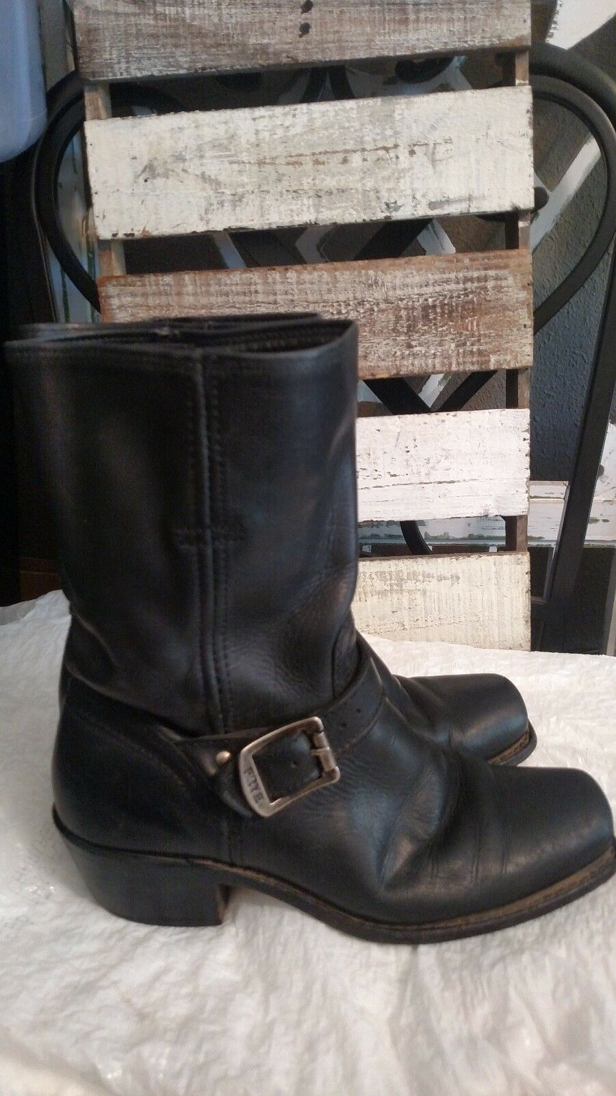 Frye Cavalry Strap 8L motorcycle Boots black Size 7.0M motorcycle 8L 2ac08d