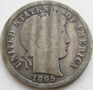 1895-S-Barber-Silver-Dime-in-a-SAFLIP-VG-Good