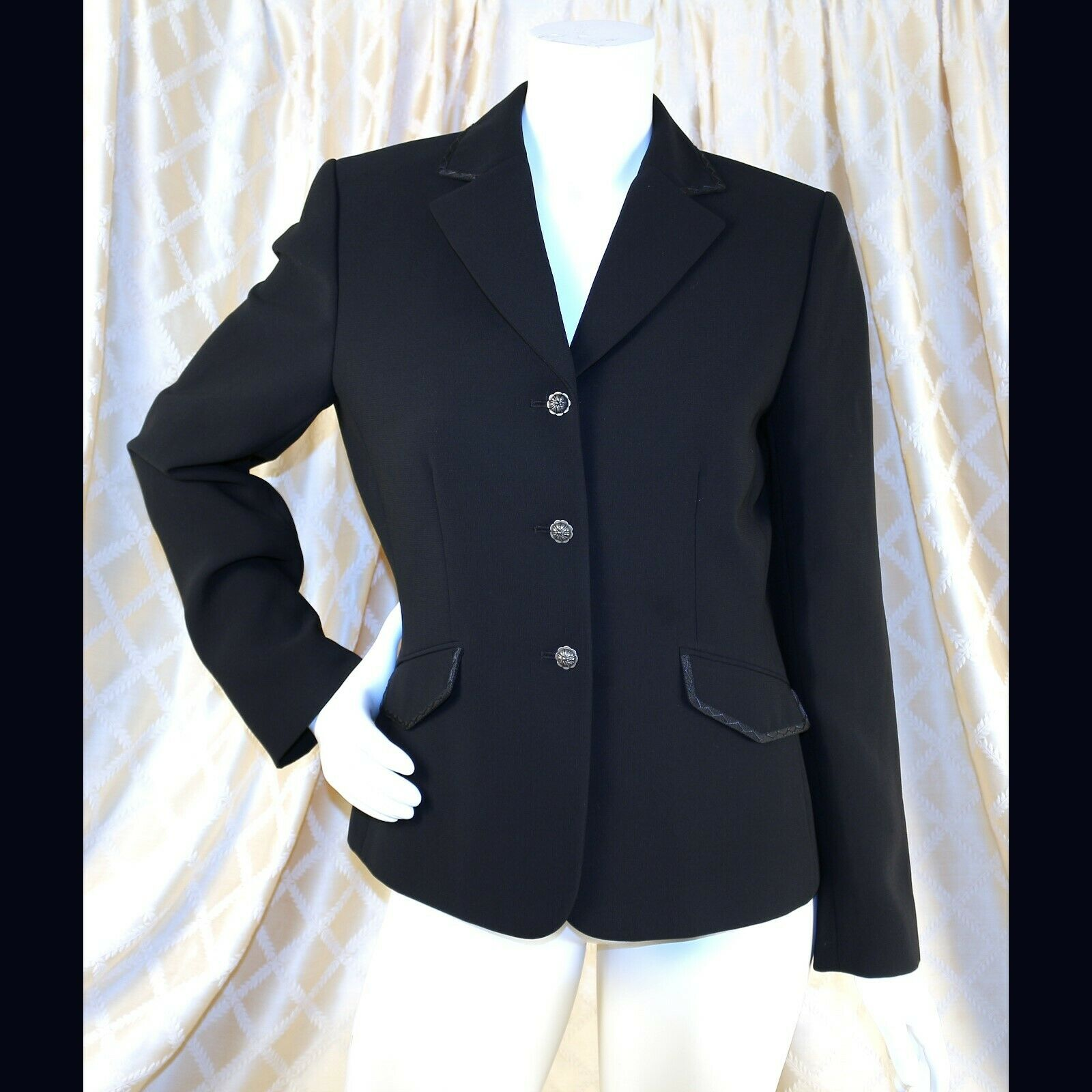 Tahari azul marino  con adorno geométrico Mujer Blazer Abrigo Chaqueta  buen precio