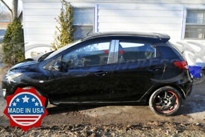 2010-2015-Mazda-2-4Pc-Chrome-Pillar-Post-Trim-Stainless-Steel-Door-Cover