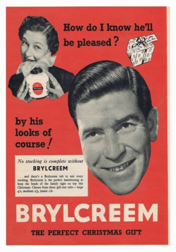Brylcreem Wife Poster Classic Vintage Retro Photo Handsome Man Couple Advert