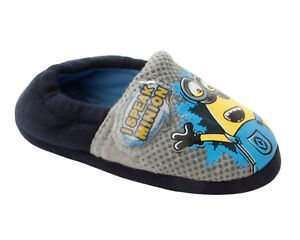 BOYS DESPICABLE ME MINIONS CHARACTER SOUND TALKING NOVELTY SLIPPERS UK SIZE 6-12