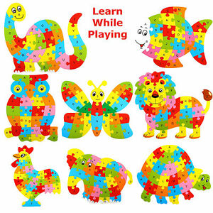 Child-Wooden-Letters-ABC-Alphabet-Animal-Puzzle-Educational-Learning-Jigsaw-Toy