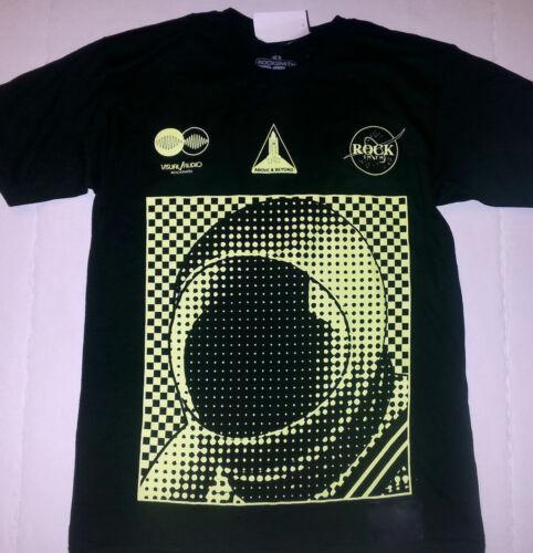 ROCKSMITH visual audio BLACK//neon above /& beyond tee T-SHIRT mens