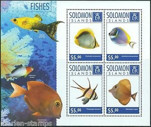 SOLOMON-ISLANDS-2014-FISHES-SHEET-MINT-NH