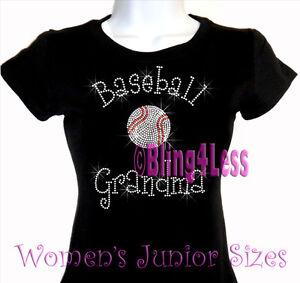 f47a9846f8d15 Baseball Grandma - C - Rhinestone Iron on T-Shirt - Bling Hot Fix ...