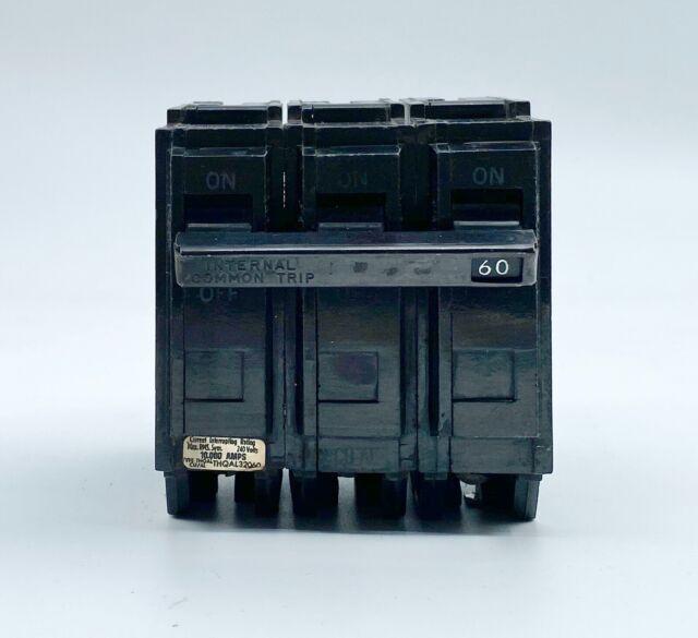 Square D QOB 360 60Amps 3 Poles 240 V Circuit Breaker Excellent Used Condition