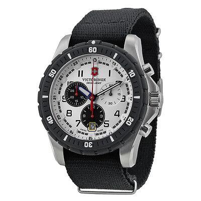 Victorinox Swiss Army Maverick Sport Chronograph White Dial Black Nylon Watch