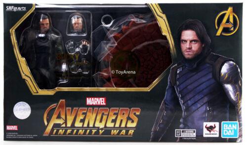 S.H Figuarts Bucky Avengers Infinity Wars and Tamashii Impact Effect Bandai