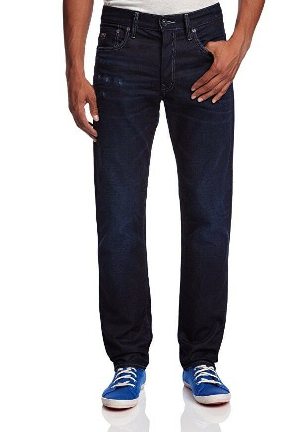 G Star RAW 3301 Straight Leg Jeans in DK Aged Bicc Denim, Size W32 L34 BNWT