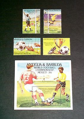 1986 Fifa World Cup Mexico Antigua & Barbuda Stamps And Miniature Sheet Um/mnh Professional Design Caribbean