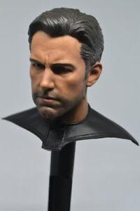 "1//6 Ben Affleck Head Sculpt 2.0 with Neck Armor Batman For 12/"" Hot Toys Figure"